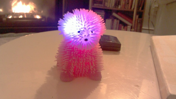 Koosh ball puppy - perfect for raves