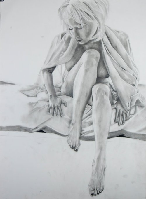 """Another Day""201022""x30""Graphite on paper (Strathmore 400 Bristol)"