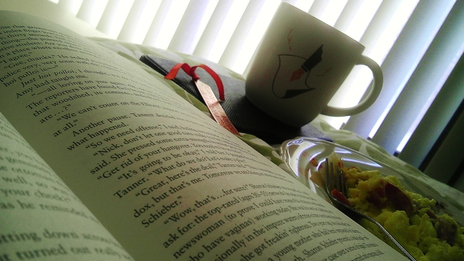 It should be a law that Sunday mornings are meant for paper books and breakfast in bed.