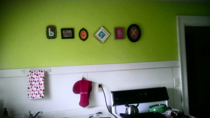 I'm real good at hanging things in straight lines.