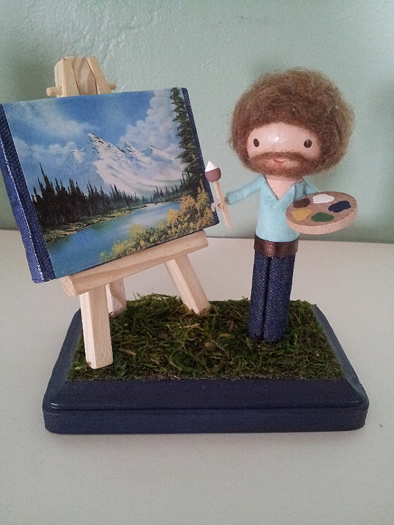 This Bob Ross clothespin doll you can buy on Etsy doesn't have anything to do with my work stress, but you click the picture for the link and buy it for me to keep at my desk and make this sort of make sense.